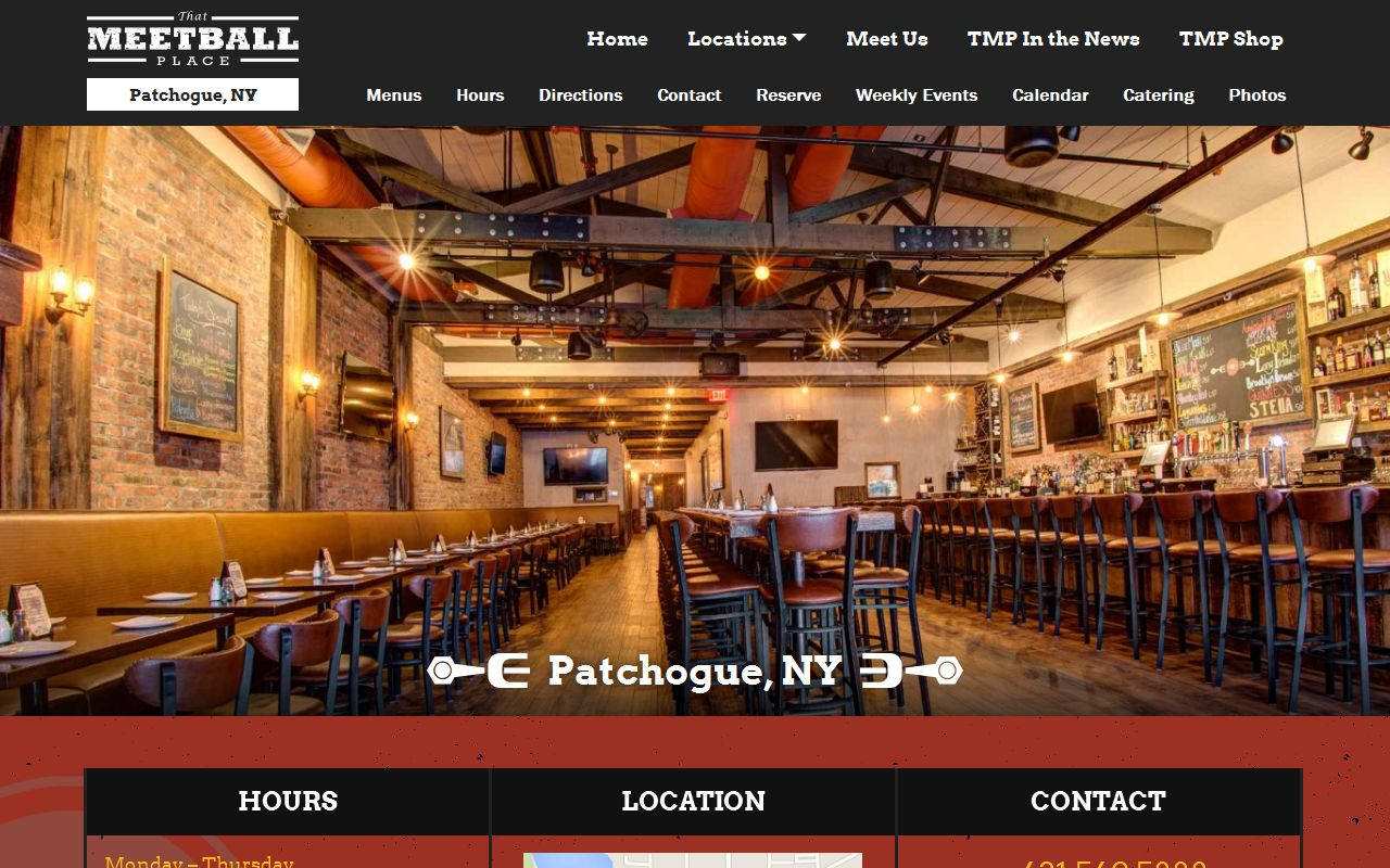 That Meetball Place Portfolio Bullfrog Communications Long Island New York Web Design And Development Brand Management